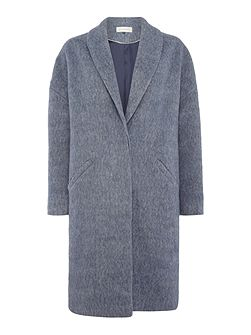 Soft Revere Brushed Wool Coat
