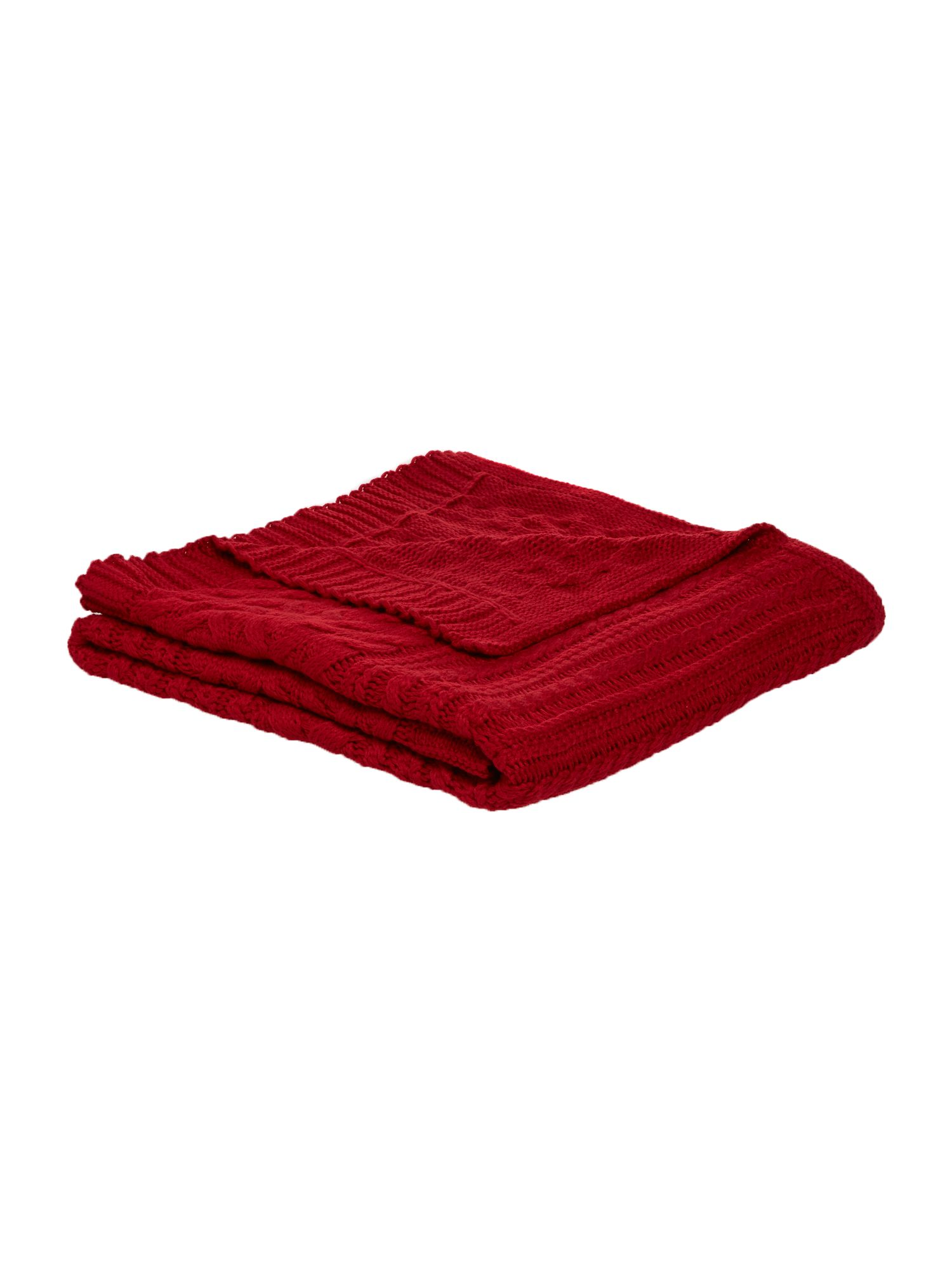 Linea Linea Chunky cable knit blanket, red