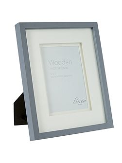 Grey wood frame, 5 x 7