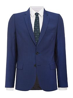 Notch Wool Mohair Suit Jacket
