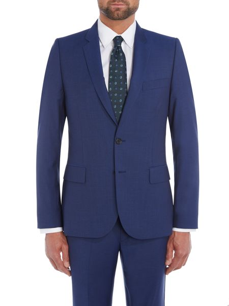 PS By Paul Smith Notch Wool Mohair Suit Jacket