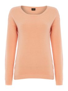 Vila Long Sleeved Ribbed Texture Jumper