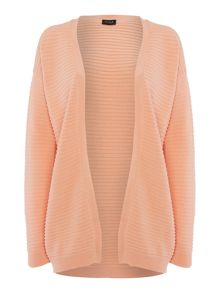 Vila Long Sleeved Ribbed Textured Cardigan