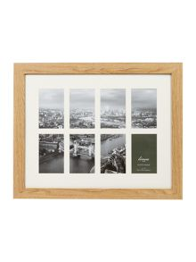 Linea Pale wood 8 aperture photo frame