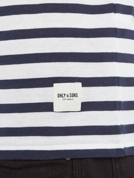 Only & Sons Stripe contrast neck Short Sleeve T-shirt