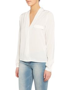 Vila Long Sleeved Chiffon Shirt