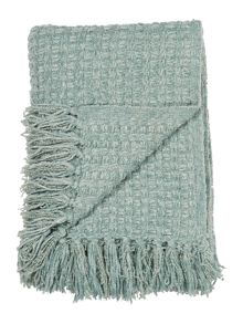 Linea Textured chenille throw, duckegg