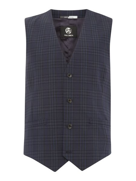 PS By Paul Smith Check Waistcoat