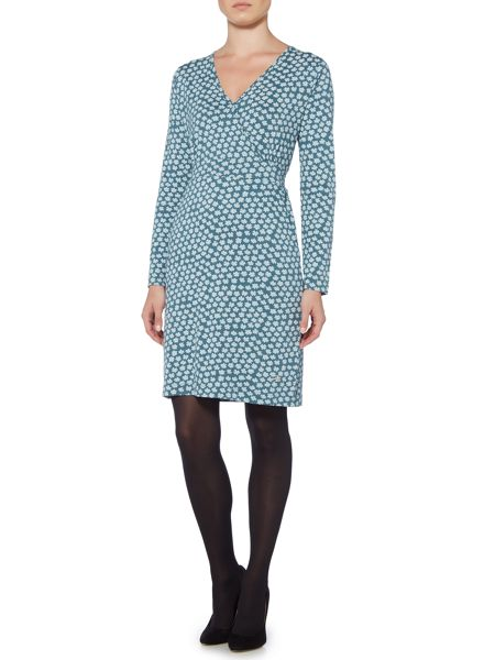 Brakeburn Delicate Daisy Long Sleeve Wrap Dress