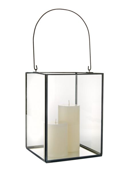 Linea Grey finish lantern large