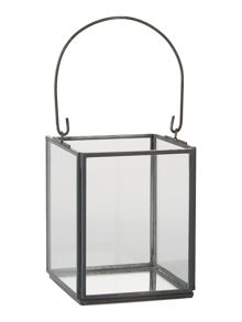 Linea Grey finish lantern small
