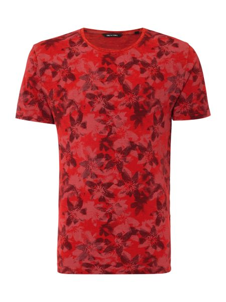 Only & Sons All Over Print Floral T-shirt