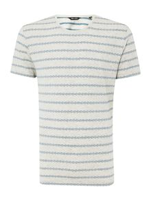 Only & Sons Ditsy Stripe Crew Neck Short Sleeve T-shirt