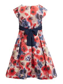 Little Misdress Girls Digital floral drop hem dress