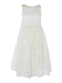 Girls Lace dress with pearls