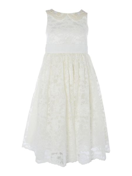 Little Misdress Girls Lace dress with pearls