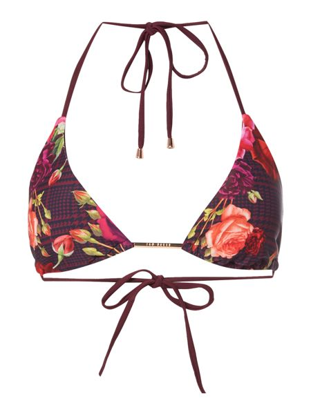 Ted Baker Jusara rose print triangle bikini top