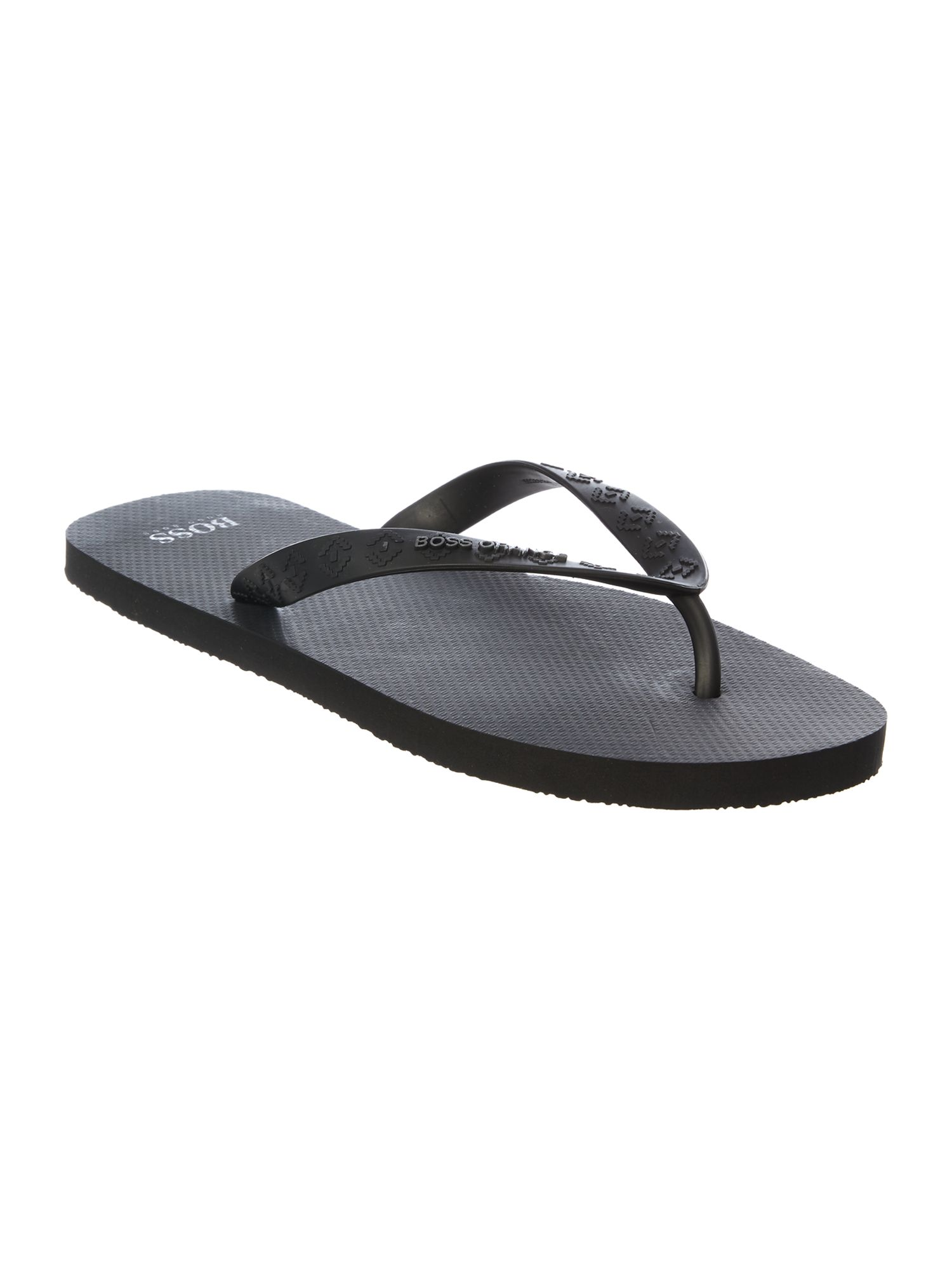 Men's Hugo Boss Logo Flip Flop, Black