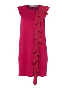 Sportmax Code Tiberio frill front knitted sleeveless dress
