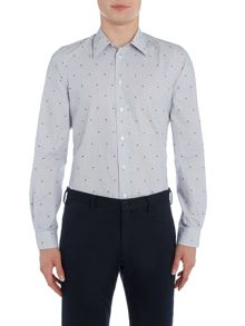 PS By Paul Smith Stripe Heart Jacquard Shirt