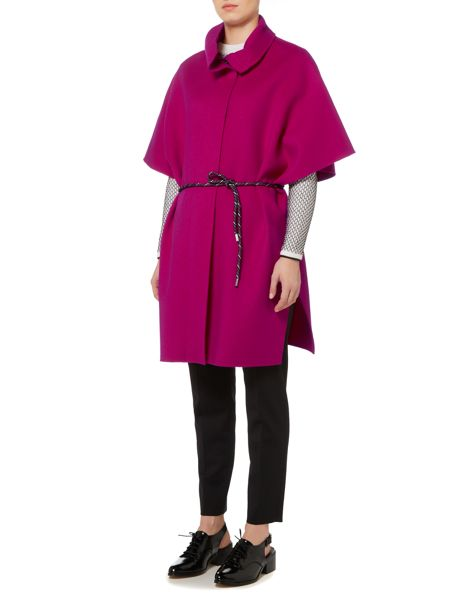 Sportmax Code Emblema high neck cape wool coat