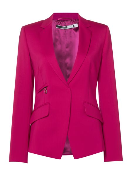 Sportmax Code Villa tailored wool blazer with zips