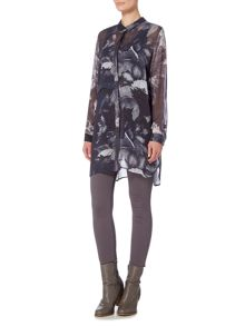 Gray & Willow Fjell printed leaf tunic