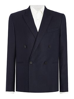 Double Breasted Textured Wool Blazer