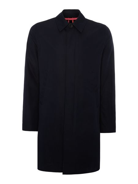 PS By Paul Smith Navy Waterproof Tailored Mac