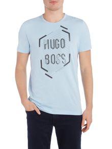 Hugo Boss Regular fit graphic logo print crew neck t shirt