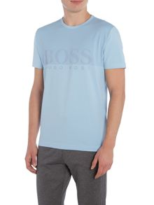 Hugo Boss Regular fit honeycomb rubberised print t shirt
