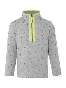 Joules Girls Half zip star print sweatshirt