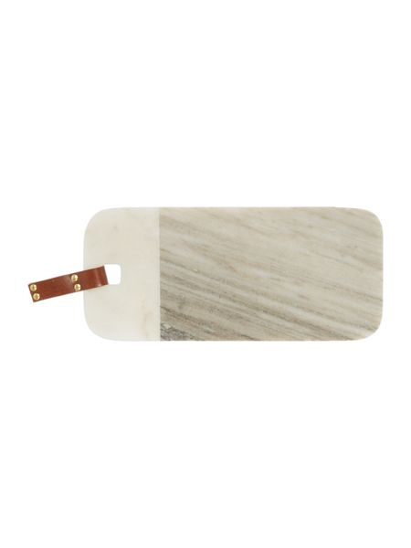 Gray & Willow White and beige marble board