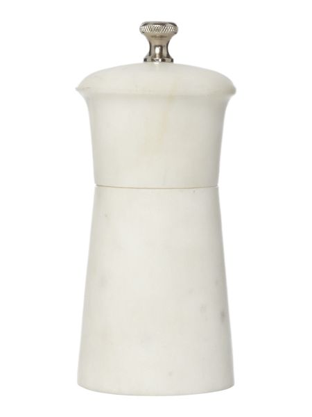 Gray & Willow White marble salt and pepper mill