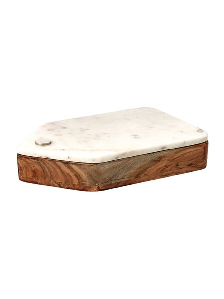 Gray & Willow Marble cheese board and knife set