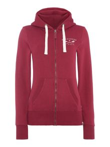 Brakeburn Paddle Detail Zip Through Hooded Sweatshirt