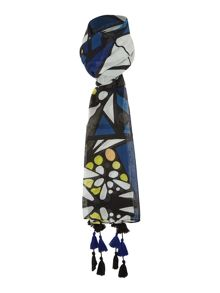 Label Lab Stain Glass Window Pane Print Scarf