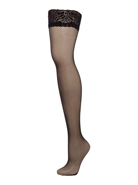 Jonathan Aston Vintage legs fishnet backseam hold ups
