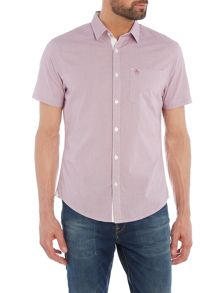 Original Penguin Convex Gingham Button Through Short Sleeve Shirt