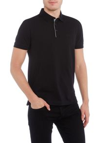 Hugo Boss C-firenze regular fit stripe placket detail polo