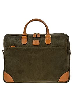 Life olive 2 handle briefcase