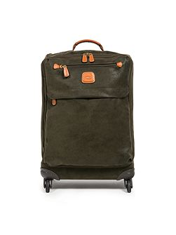 Life olive 4 wheel 54cm soft cabin suitcase
