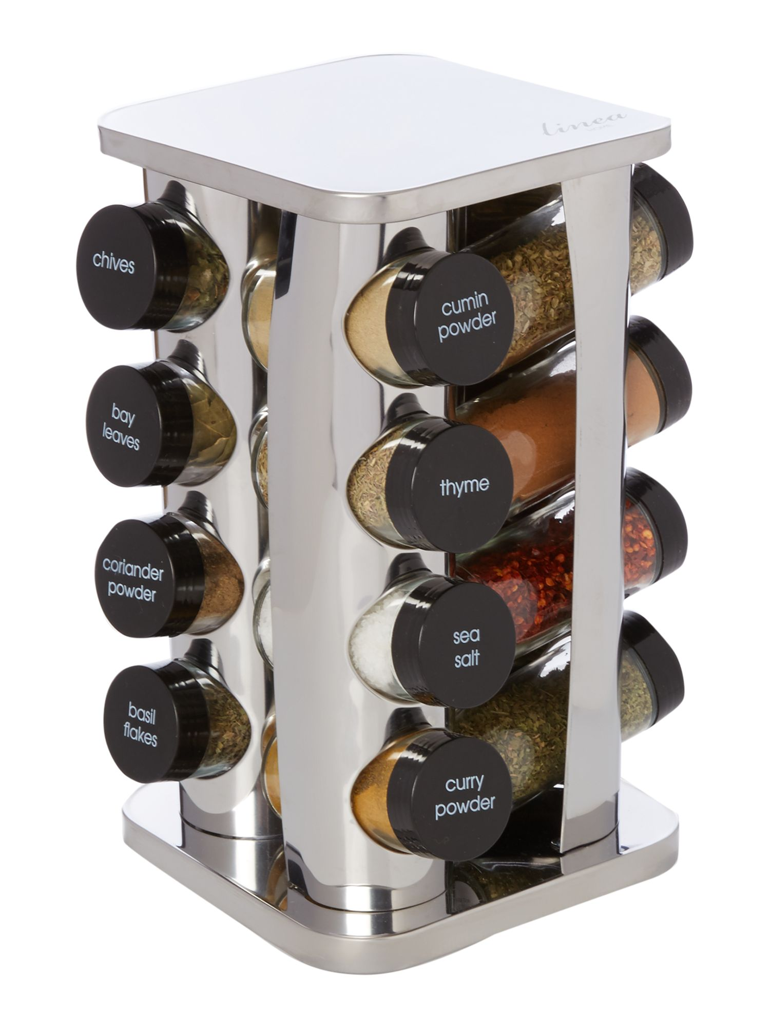 Linea 16 Piece Stainless Steel Spice Rack