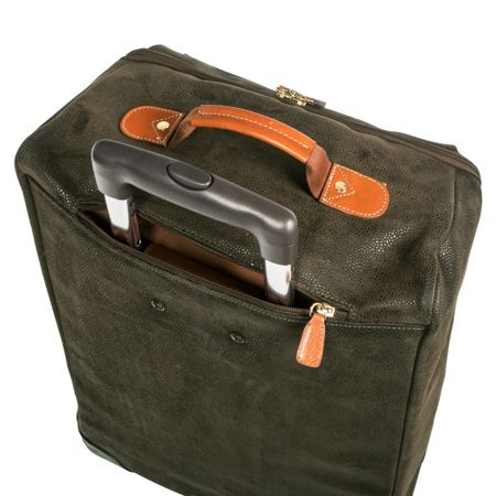 Brics Life olive 4 wheel 65cm soft medium suitcase