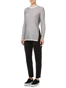 Sportmax Code Rotondo side split wool jumper