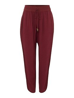 Textured luxe loose trousers