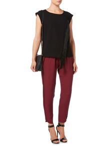 Biba Textured luxe loose trousers