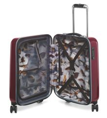 Ted Baker Herringbone burgundy 8 wheel cabin suitcase