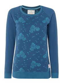 Brakeburn Birds and Waves Crewneck Sweatshirt