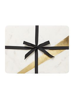 Set of 2 marble placemats with gold edging